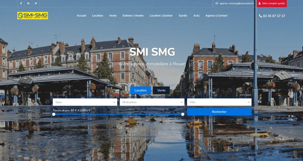 Site internet agence SMI-SMG
