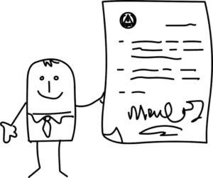 Signature sur lettre