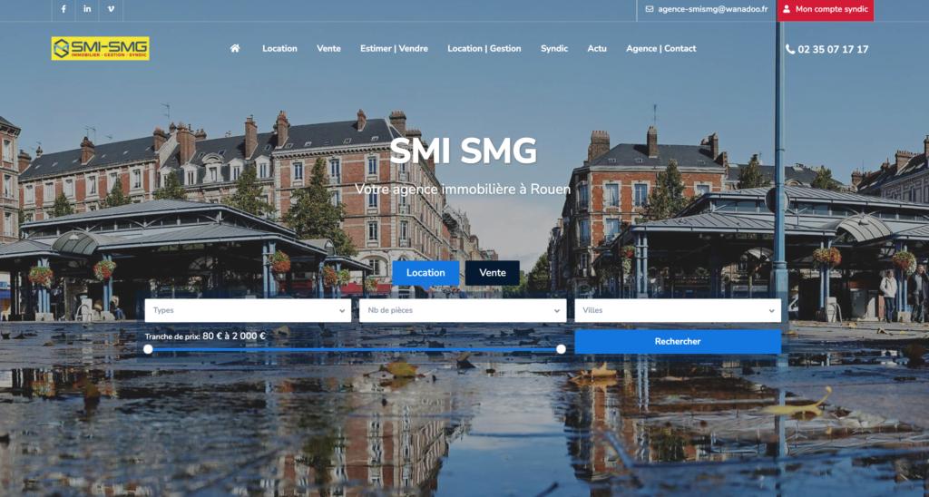 Page de Agence Immobilière SMI SMG place St Marc à Rouen